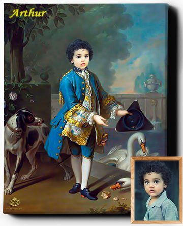 Little Royal Lord | Custom Royal Portraits | Custom Gift for Kids - Regal Pawtraits