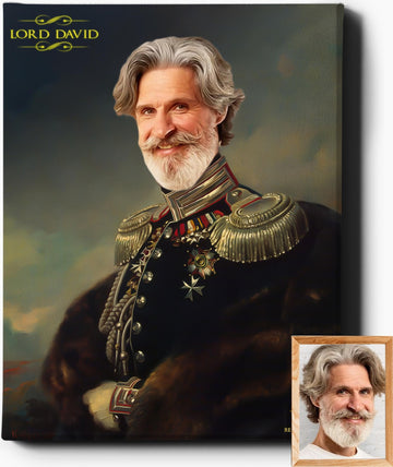 Custom Royal Portraits | The Commander | Custom Gift For Him - Regal Pawtraits