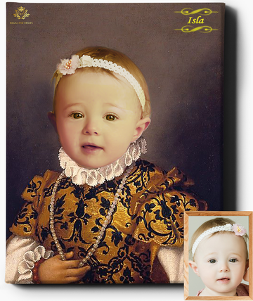 Regal Toddler II | Custom Royal Portraits | Custom Gift for Kids - Regal Pawtraits
