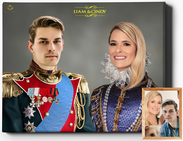 The Royals II | Custom Royal Portraits | Custom Gift For Couples - Regal Pawtraits