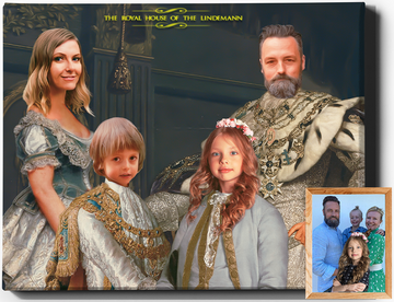 The Royal House IV | Custom Family Portraits | Custom Royal Portraits - Regal Pawtraits