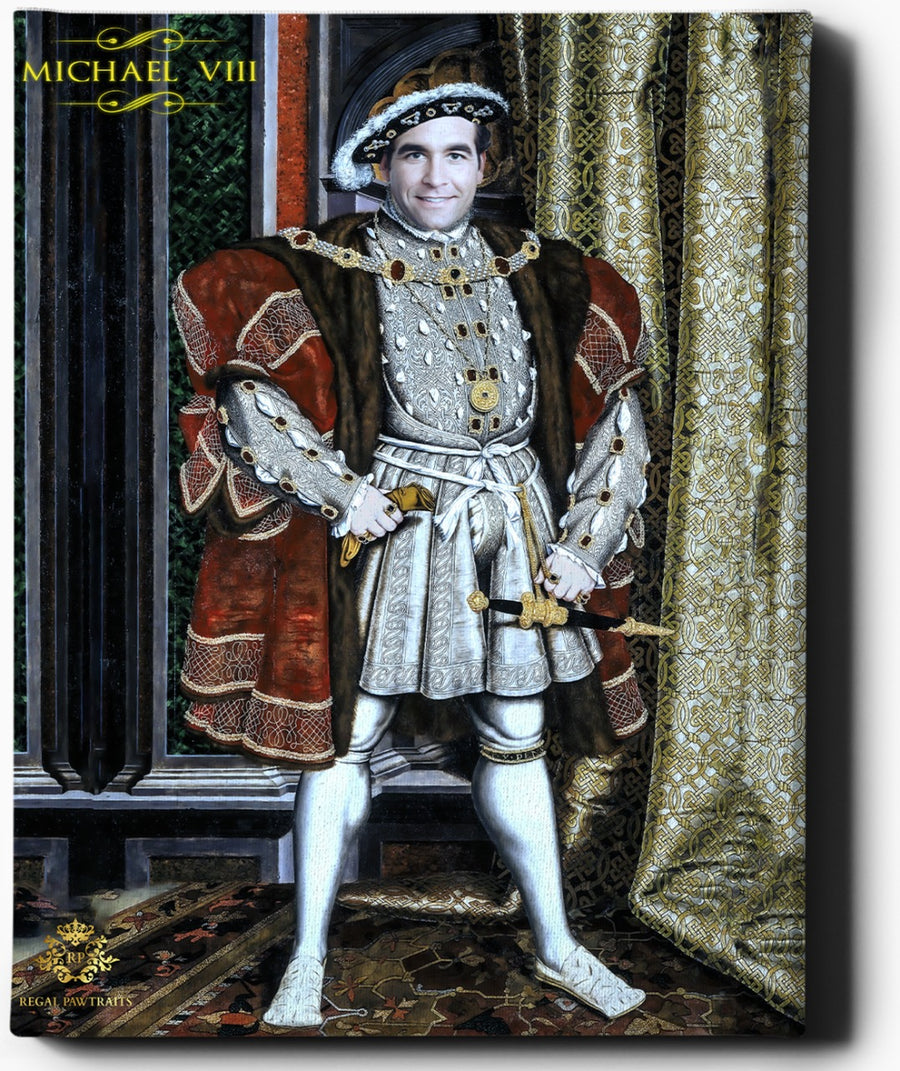 Custom Royal Portraits | Henry VIII | Custom Gift For Him - Regal Pawtraits