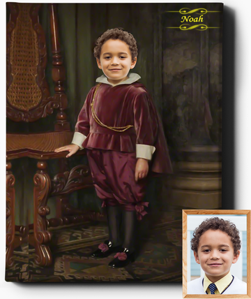 Little Lord IV | Custom Royal Portraits | Custom Gift for Him - Regal Pawtraits