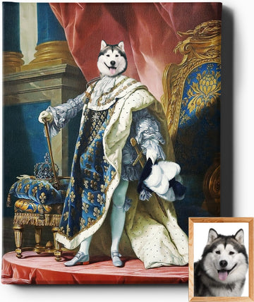 Custom Royal Portraits THE REGAL ONE | CUSTOM PET PORTRAIT | REGAL PAWTRAITS - Regal Pawtraits