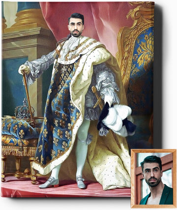 THE EMPEROR | CUSTOM RENAISSANCE PORTRAIT | CUSTOM GIFT FOR HIM - Regal Pawtraits