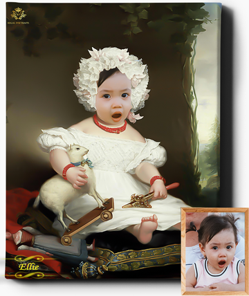 Regal Toddler | Custom Royal Portraits | Custom Gift for Kids - Regal Pawtraits