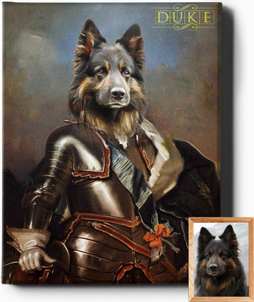 THE KNIGHT | CUSTOM PET PORTRAIT | REGAL PAWTRAITS - Regal Pawtraits