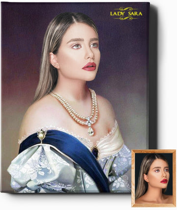 Custom Royal Portraits THE BARONESS | CUSTOM RENAISSANCE PORTRAIT | CUSTOM GIFT FOR HER - Regal Pawtraits
