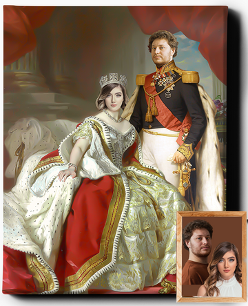 Custom Royal Portraits | The Noble Couple | Custom Gift For Couples - Regal Pawtraits