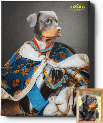 Custom Royal Portraits THE MAJESTIC ONE | CUSTOM PET PORTRAIT | REGAL PAWTRAITS - Regal Pawtraits