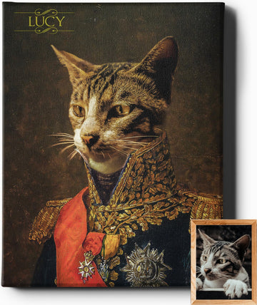 THE MARSHALL | CUSTOM PET PORTRAIT | REGAL PAWTRAITS - Regal Pawtraits