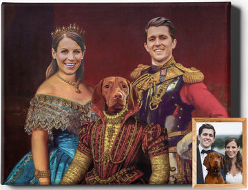 Custom Royal Portraits PET FAMILY V | FAMILY PET PORTRAIT | REGAL PAWTRAITS - Regal Pawtraits