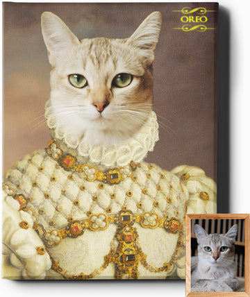 Custom Pet Royal Portraits | The Princess | Custom Pet Portraits - Regal Pawtraits