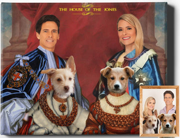 Custom Royal Portraits PET FAMILY IV | FAMILY PET PORTRAIT | REGAL PAWTRAITS - Regal Pawtraits