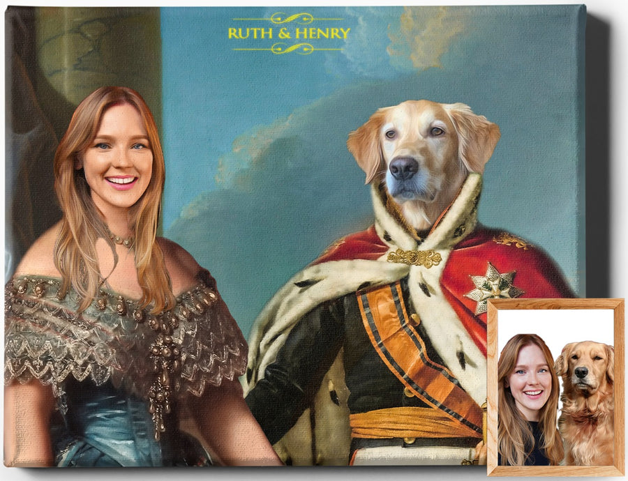 Custom Royal Portraits THE LORD & THE LADY | CUSTOM PET PORTRAIT | REGAL PAWTRAITS - Regal Pawtraits