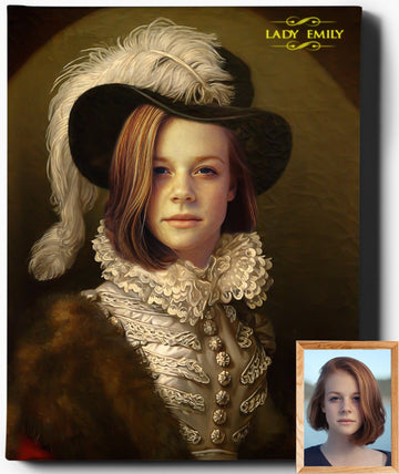 Custom Royal Portraits | The Socialite | Custom Gift For Her - Regal Pawtraits