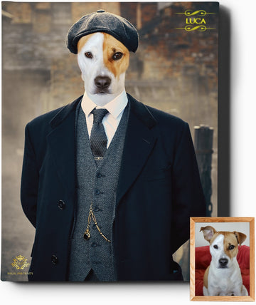 Custom Royal Portraits TOMMY SHELBY | CUSTOM PEAKY BLINDERS PORTRAIT | REGAL PAWTRAITS - Regal Pawtraits