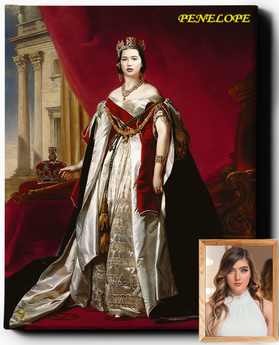 Custom Royal Portraits | The Regal Queen | Custom Gift For Her - Regal Pawtraits