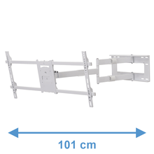Load image into Gallery viewer, DQ Reach XXL 101 cm White TV Wall Mount