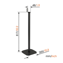 Load image into Gallery viewer, Vogel's SOUND 4301 Black - Floor Stand for Sonos PLAY:1