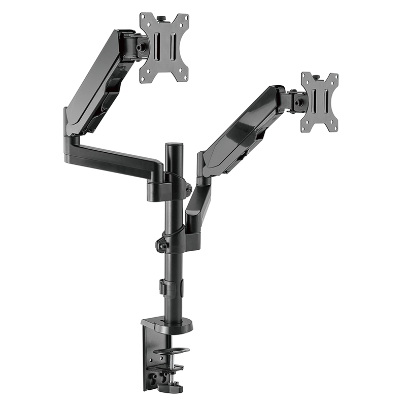DQ Double Monitorarm Sena Black - with gas spring