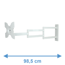 Load image into Gallery viewer, DQ Rotate XL 98,5 cm White TV Wall Bracket