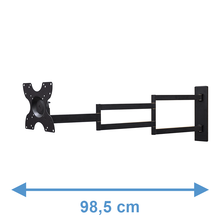 Load image into Gallery viewer, DQ Rotate XL 98,5 cm Black TV Wall Bracket