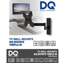 Load image into Gallery viewer, DQ Rotate Triple M Black TV Wall Bracket