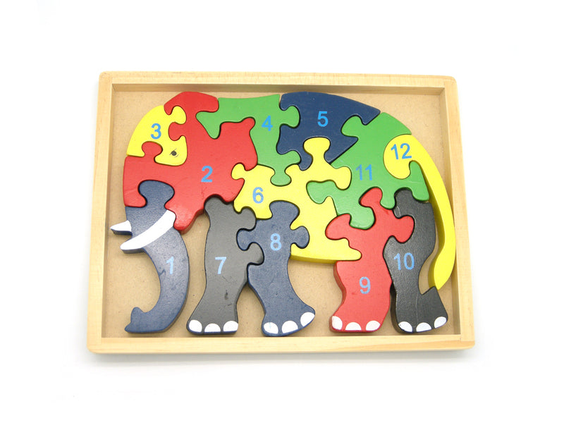 ELEPHANT JIGSAW IN TRAY 12PCS