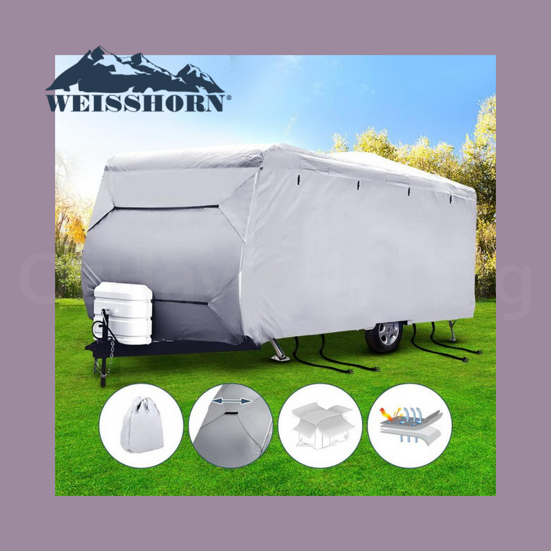 18-20ft Caravan / Campervan Cover - 4 Layer Heavy Duty UV Protection with Carry