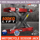 T-REX Motorcycle Jack Scissors Lift Bike Lifter Stand Hoist Quad Motorbike
