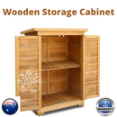 Garage Garden Shed Carport Outdoor Storage Cabinet Freestanding Pantry Cupboard
