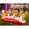 Jingle Jollys Inflatable Christmas Santa On Sleigh 2.8M Lights Outdoor Decoratio