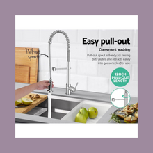 Load image into Gallery viewer, Pull Out Kitchen & Laundry Tap Mixer | Swivel Basin Taps Brass WEL