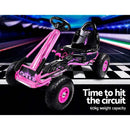 RIGO Kids Pedal Go Kart Car Ride On Toys Racing Rubber pneumatic Tyre Bike Pink