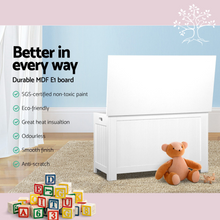 Load image into Gallery viewer, Multi-Use Storage Chest | Kids Toy Box Cabinet Organiser Container in White