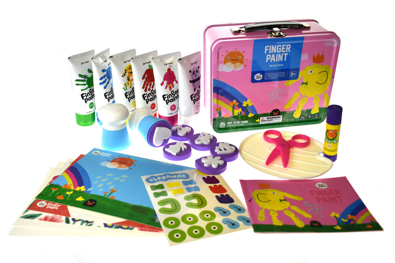 CHILDREN'S FINGER PAINT KIT(PINK)