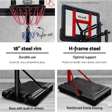 "Load image into Gallery viewer, 3.07M 44"" Basketball Hoop Ring Portable Height Adjustable Backboard Rim System"