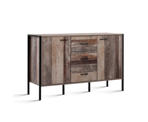 Buffet Sideboard Cabinet Storage Kitchen Hallway Table Industrial Rustic New