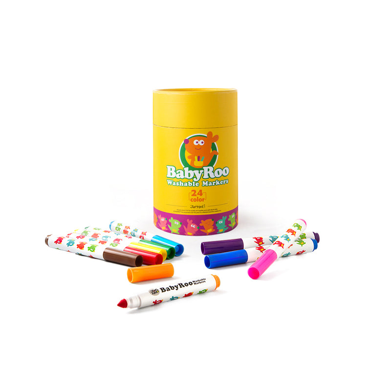 WASHABLE MARKERS -BABY ROO 24 COLORS