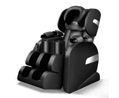 Electric Massage Recliner Chair Heated Back Shiatsu Zero Gravity w/ RC Black