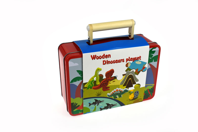 DINOSAUR PLAYSET IN TIN CASE