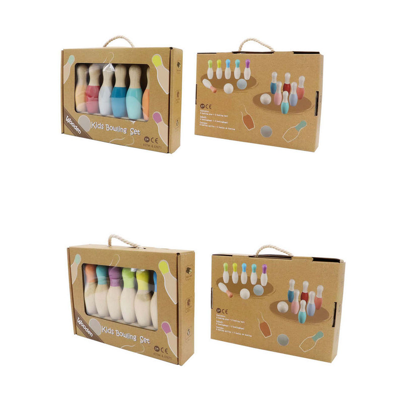 PRICE FOR 2 SET ASSORTED WOODEN BOWLING