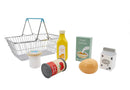 WOODEN GROCERY WITH METAL SHOPPING BASKET
