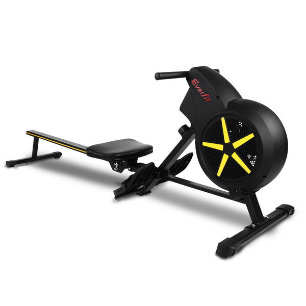 Everfit Rowing Exercise Machine Rower Resistance Fitness Home Gym Cardio Air