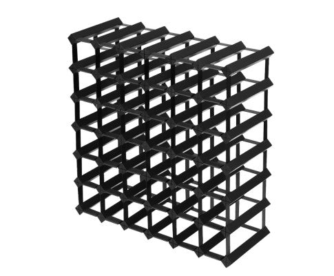 Large Wooden Wine Rack Black 42 Bottle Storage Holder Cabinet Metal Wood Stand