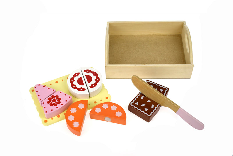 WOODEN FOOD TRAY - DESSERT