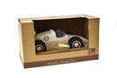 KD WOODEN RACING CAR WHITE