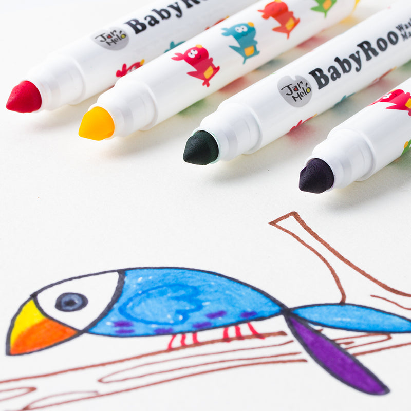WASHABLE MARKERS -BABY ROO 12 COLORS
