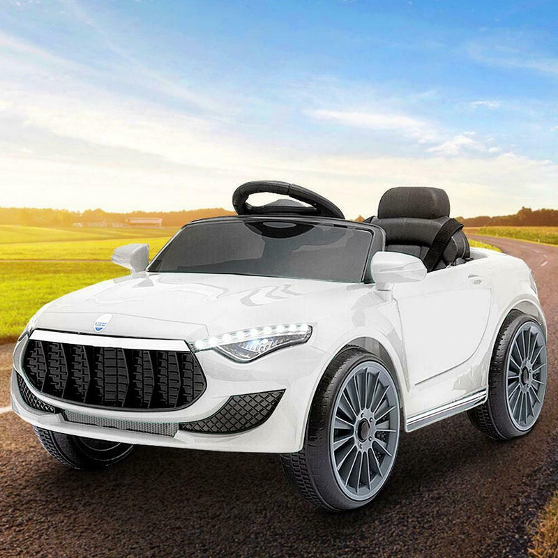Rigo Maserati Kids Ride On Car Electric Remote Control Toys Car White